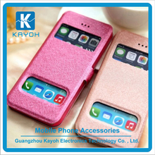 [kayoh] Top seller double window cell phone pu leather cases for samsung J7