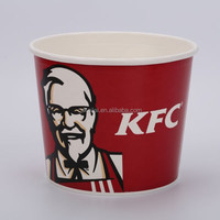 disposable paper bowl KFC fried chiken paper french fries bucket
