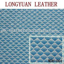 The shining diamond square synthetic upper pu leather for lady shoes