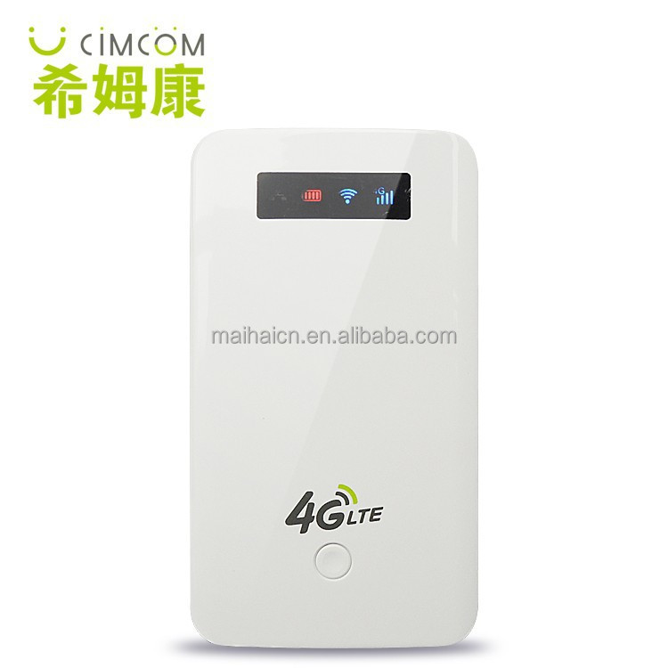 150mbps OpenWRT 4G Portable Wifi Router with Power Bank/RJ45 Port