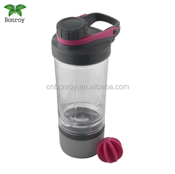 Mix whip tritan gym protein Shaker fitness Bottle with inserted mixing ball