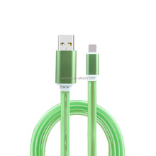 New Fashion Mobile Phone LED Light 8pin USB Data Sync Charging Charger Cable Cord Wire For iPhone6 5 5s iPod Touch5 Cables
