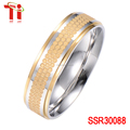 The latest design jewelry of the plating gold honeycomb ring Stainless steel black ring 6mm wide fashion ring