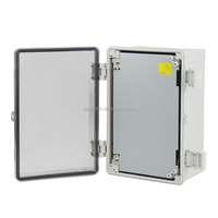 IP65 clear waterproof plastic box with hinge
