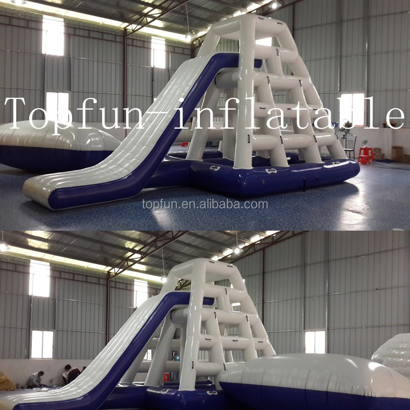 Cheap a set inflatable water park, water slide ,tower,blob and springboard combination