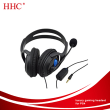 Wired Adjustable Online Live Gaming Chat Headset with Mic for PS4
