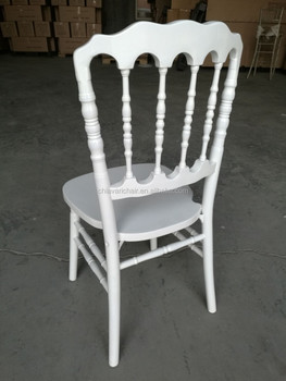 Stronger Solid Wooden Banquet Napoleon Events Chairse in White Colour