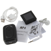 NEW Mini Mp4 Player 8GB 1.5 inch TFT LCD 6th Gen Clip Mp3 Mp4 Video Player Black Large Capacity Mp4 Player