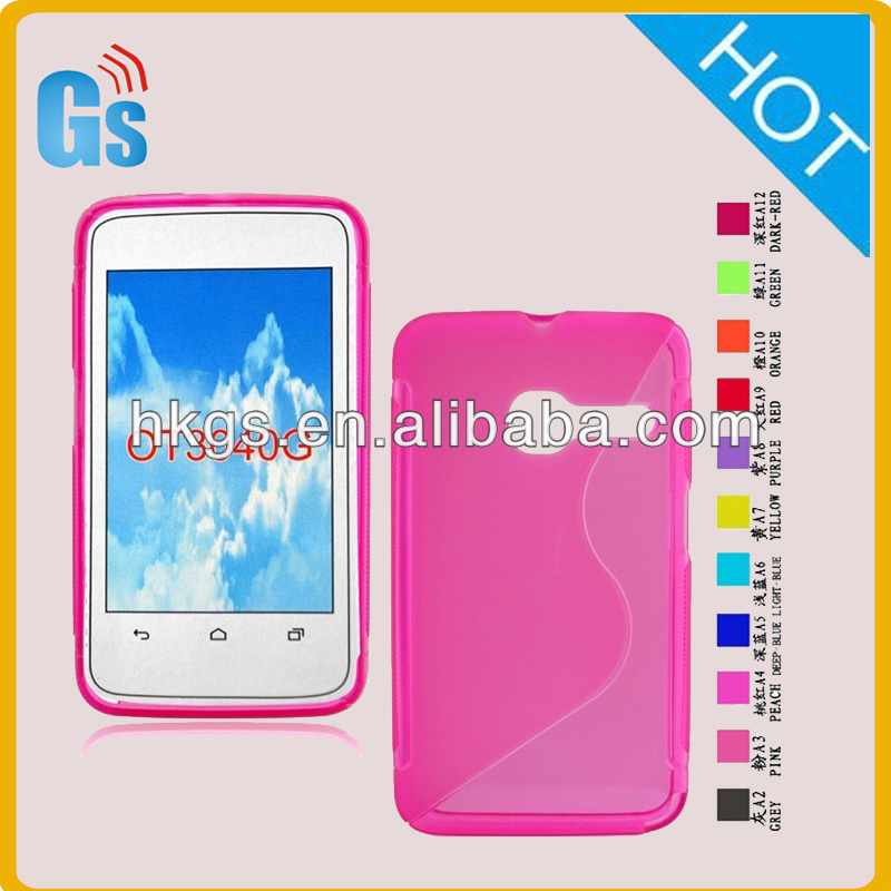 Tpu Thin S Line Case Cover for Alcatel one touch Tribe 3040 ot 3040D for tcl ot 3040G