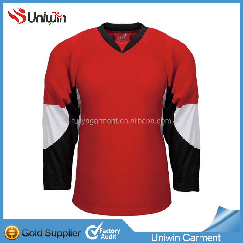 High quality 100% Polyester Embroidery Vancouver Canucks Ice Hockey Jersey