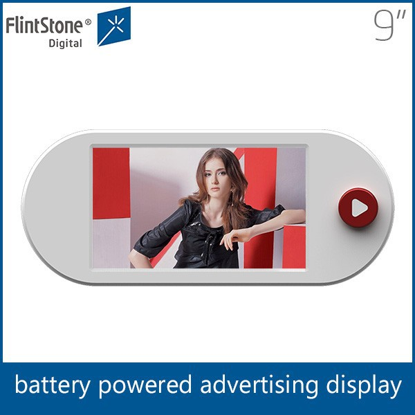 Flintstone 9 inch mini advertising led display screen play video from china video screen factory with fast delivery