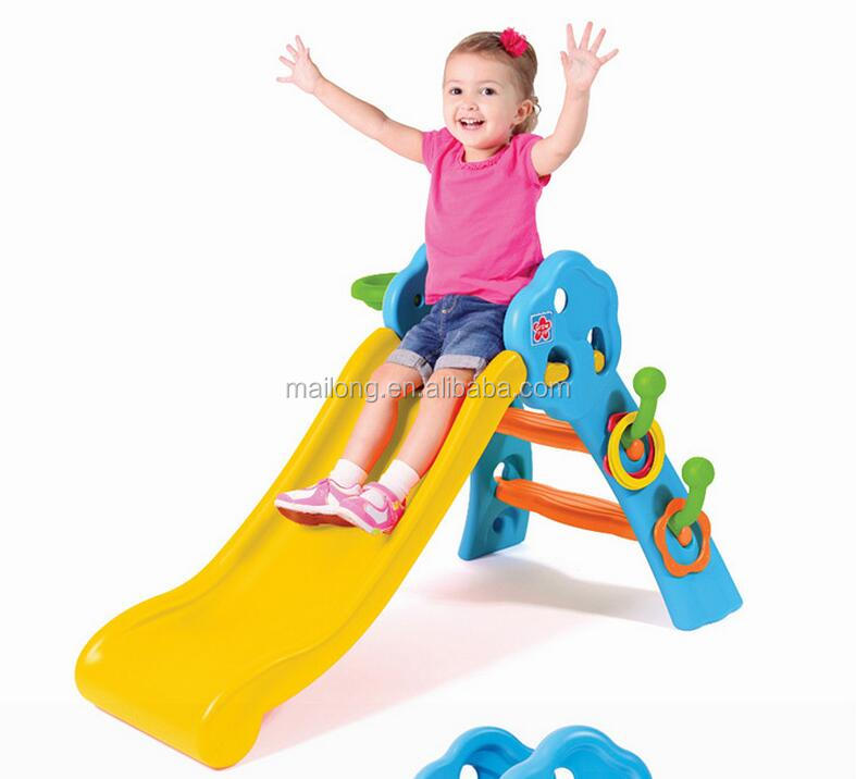 Design Fun folding small children indoor slide home baby plastic toys