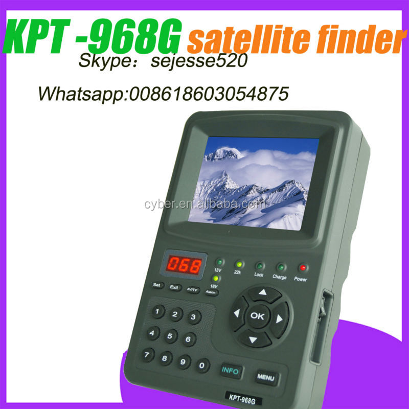 satellite finder 3.5 inch handheld HD satellite meter/monitor( KPT-968G )