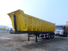3 axles 12 wheels 60 tons tipper truck trailer dumper trailer