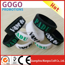 2016 USA most popular Colorful design 22mm diameter rubber band custom vape band in stock now