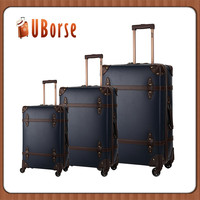 Pu Leather 3 Pieces Trolley Luggage