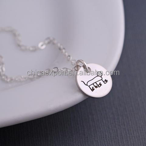 Lovely Round Plating Engraved Animal Disc Locket Choker Necklace