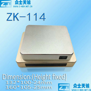 ZK-115-3/ 132*100-24mm complete enclosure (height variable)  aluminum metal enclosure player shell