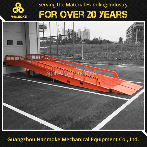 2017Detachable mobile steel loading ramps for trailer of 10 ton