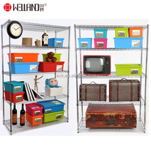 NSF Approval 6 Tier Adjustable Home Storage Chrome Wire Metal Shelving Rack Hot Sale for 60 countries