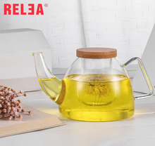 RELEA handblown borosilicate glass teapot,tea sets with teapot
