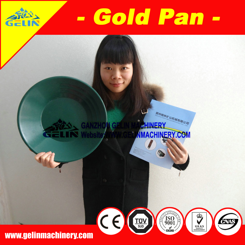 round gold panning plastic, gold wash sand pan, plastic gold pan for river sand gold mining