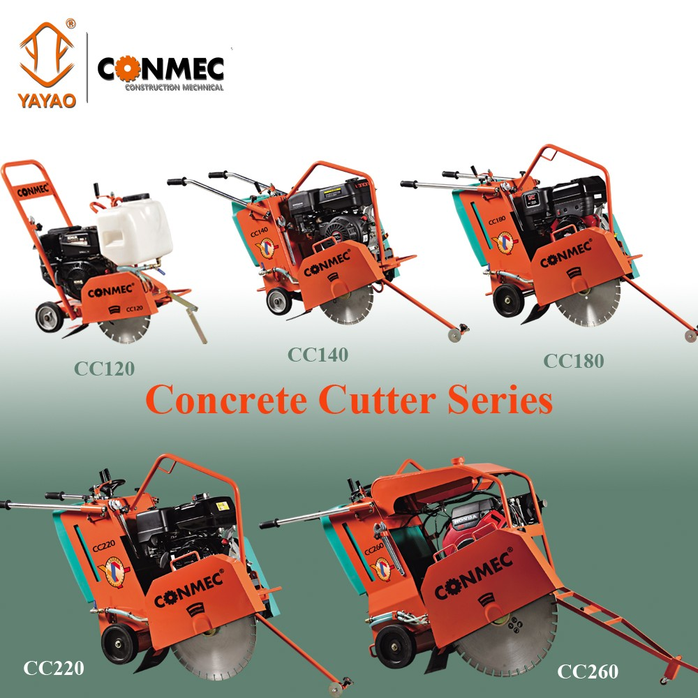 Conmec 5.5HP Small concrete Floor Saw with 9cm Cutting Depth CC120 Series