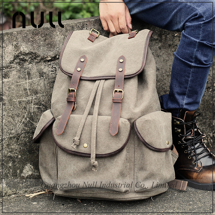 Latest Hot Style Big Size Canvas Leather Travelling Wholesale <strong>Backpack</strong>