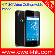 wholesale 4.0 inch Quad core dual sim cheap 3G custom android mobile phone