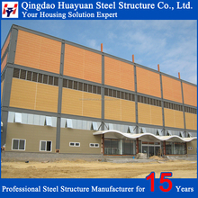 Prefabricated Single Skin Construction Structural Steel Shed