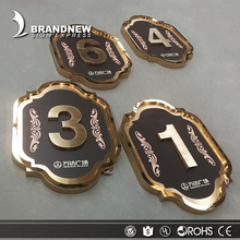 Manufacturer outlet custom stainless steel hotel door number plates