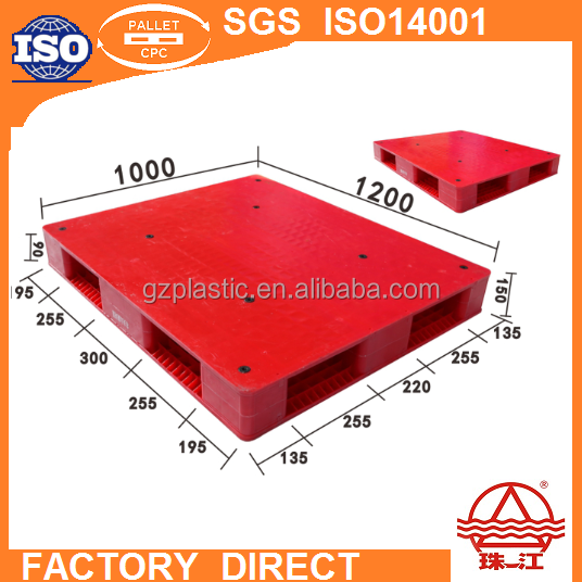 Reversible Plastic Pallet 1200*1000mm Closed Deck Top Double Faced