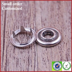metal snap buttons eyelets