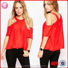 New Fashion Design Women Sexy Cold Shoulder Top Wholesale 2015