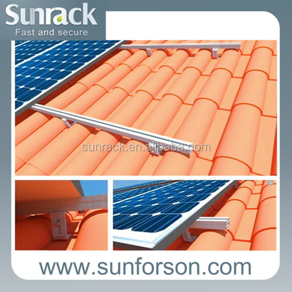 home solar energy system pitched roof mounting kit