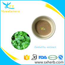 Quality cosmetic material 100% natural Centella asiatica extract Asiaticoside Powder