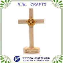 Religious crucifix crafts resin standing cross with based figurines