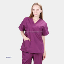 high quality medical scrubs purple color