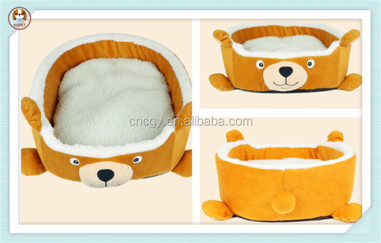Short plush cartoon pet bed winter dog house