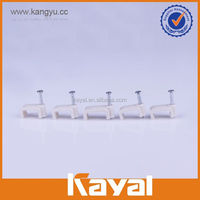 Plastic nail cable clip