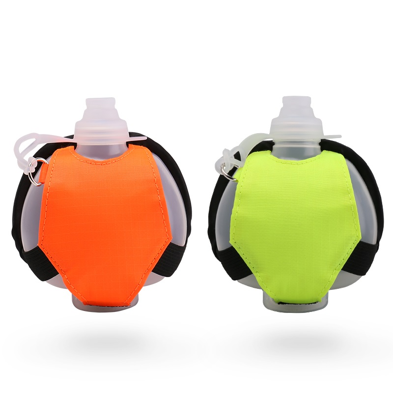 Free Sample 200Ml Food Grade Silicone Cross Valve Design Water Bottle Sport
