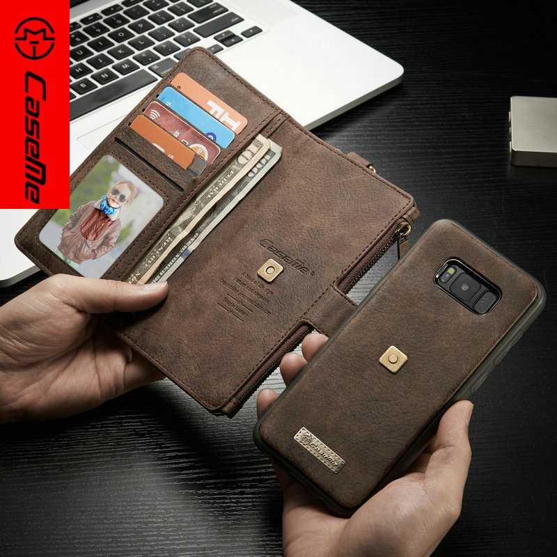 Luxury Wallet Credit Card Book Style Flip Stand Leather Case Back Cover For Samsung Galaxy S8 leather case