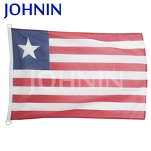 wholesale polyester woven fabric 3x5ft custom printed flag of liberia