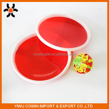 Hot sale cheap plastic Suction catch cup ball set sticky ball,beach paddle ball set