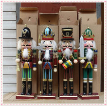 Home Decoration walnut people wooden soldier nutcracker for christmas decoration