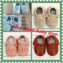 Factory direct high quality Handmade newborn soft sole genuine leather baby shoes kids shoes children shoes
