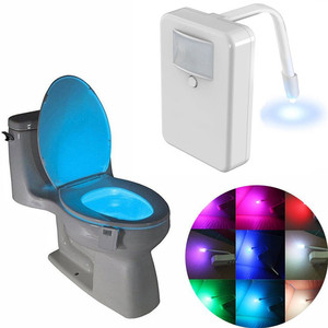 Indoor 16 Colors Rotated Smart Motion Sensor LED Toilet Night light