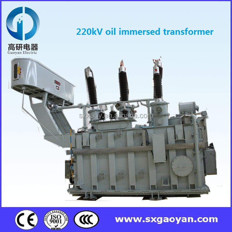 SSZ11 series 220kV three winding oil immersed power transformer on-load changer