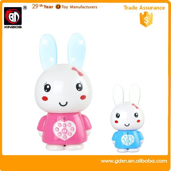 Baby rabbit education toy with music for kids