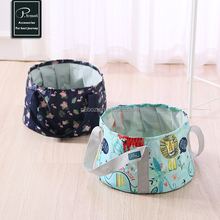 P.travel waterproof portable folding polyester travel folding bucket